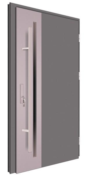 Drzwi wejściowe antracyt pochwyt 150 cm 68MK2