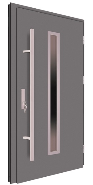 Drzwi zewnętrzne antracyt pochwyt 150 cm 92MK4
