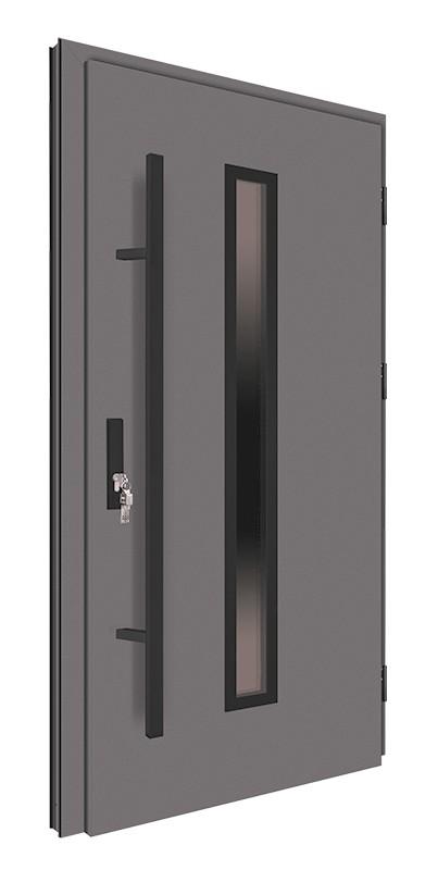 Drzwi zewnętrzne antracyt pochwyt czarny 150 cm 92MK4