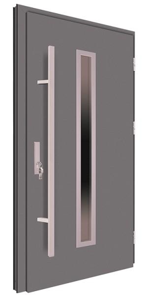 Drzwi wejściowe antracyt pochwyt 150 cm 68MK4