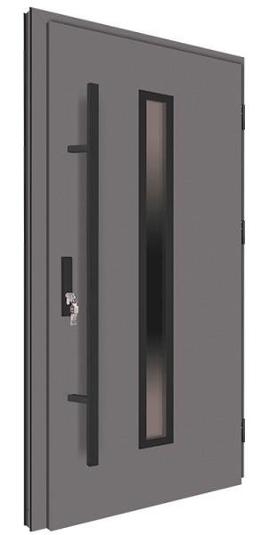 Drzwi wejściowe antracyt pochwyt nero 150 cm 68MK4