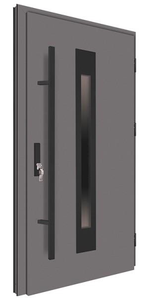 Drzwi zewnętrzne antracyt pochwyt czarny 150 cm 92MK6