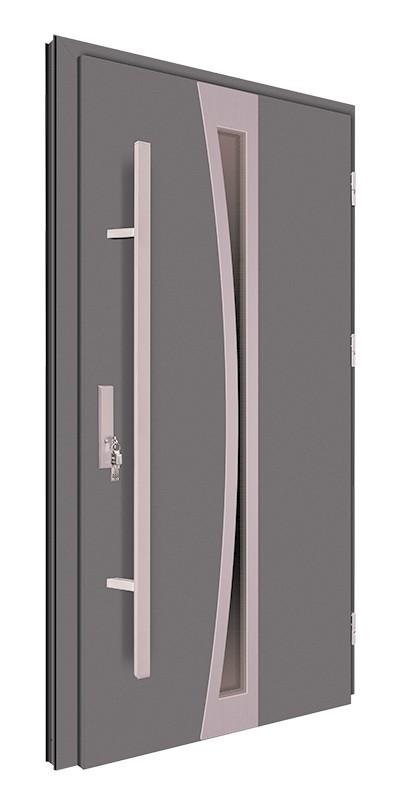 Drzwi zewnętrzne antracyt pochwyt 150 cm 92MK8