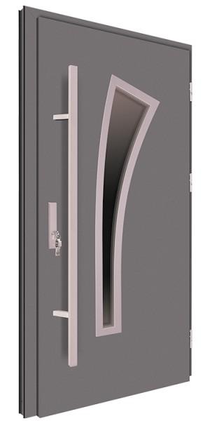 Drzwi wejściowe antracyt pochwyt 150 cm 68MK9