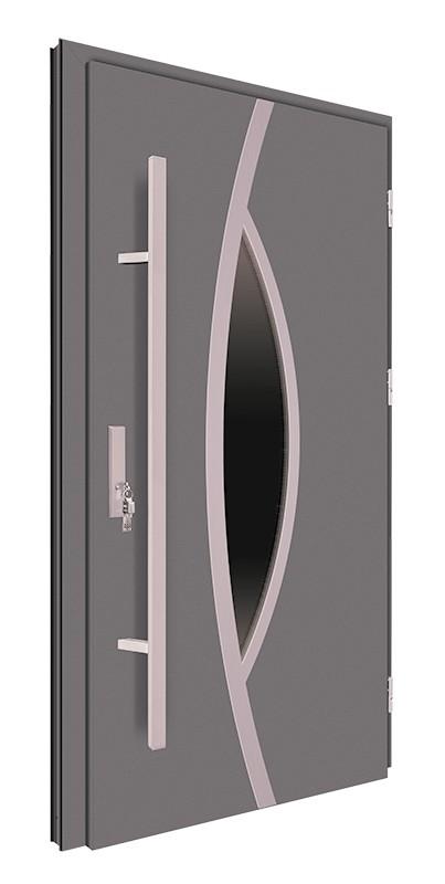 Drzwi zewnętrzne antracyt pochwyt 150 cm 92MK10