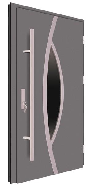 Drzwi wejściowe antracyt pochwyt 150 cm 68MK10