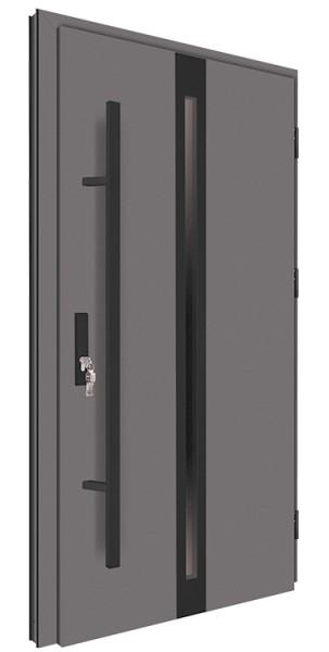 Drzwi wejściowe antracyt pochwyt 150 cm nero 68MK14