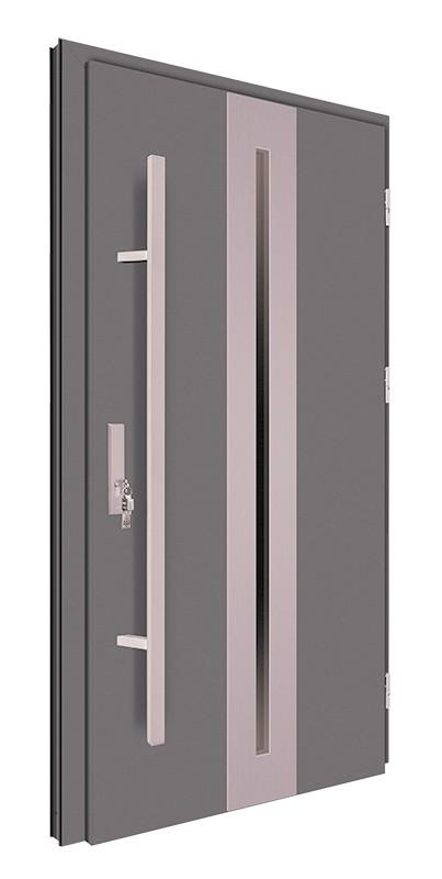 Drzwi zewnętrzne antracyt pochwyt 150 cm 92MK16