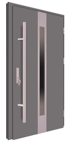 Drzwi zewnętrzne antracyt pochwyt 150 cm 92MK18