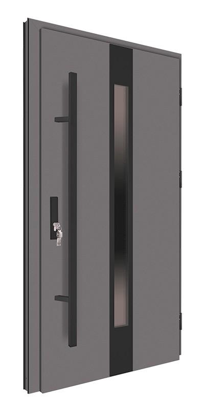 Drzwi zewnętrzne antracyt pochwyt nero 150 cm 92MK18
