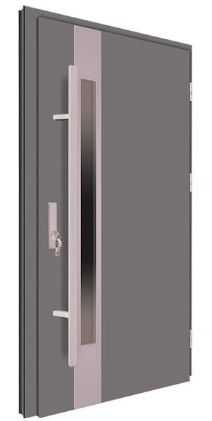 Drzwi wejściowe antracyt pochwyt 150 cm 68MK19