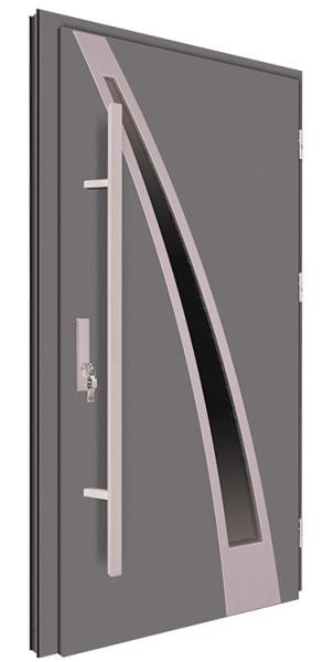 Drzwi wejściowe antracyt pochwyt 150 cm 68MK20