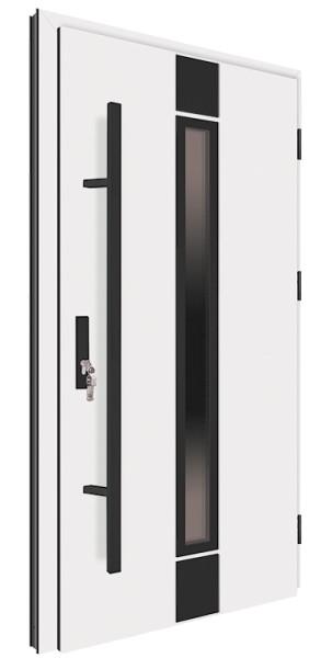 Drzwi zewnętrzne białe pochwyt czarny 92MK3 MK-DOOR