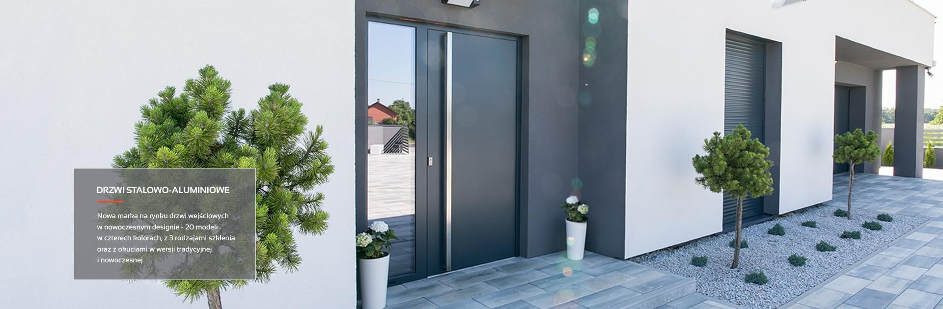 Drzwi wejściowe stalowo-aluminiowe MK-DOOR