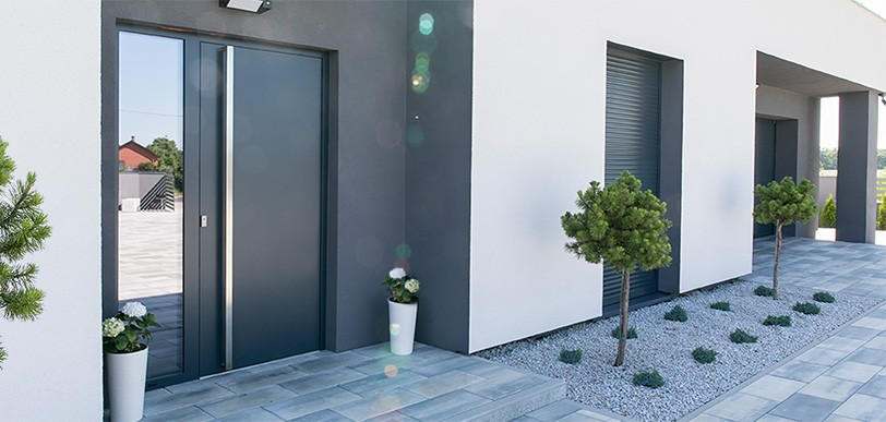 Drzwi zewnętrzne stalowo-aluminiowe MK-DOOR